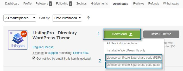 How to activate license for ListingPro theme? – ListingPro